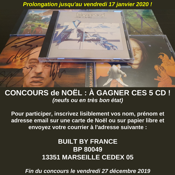 Concours : a gagner 5 CD